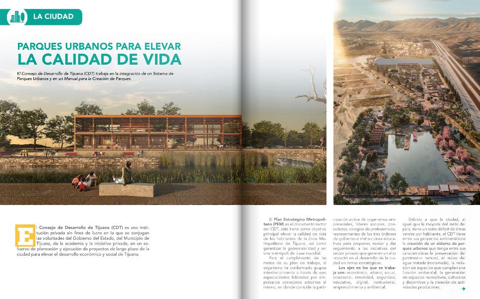 """Destaca revista """"parques"""" esfuerzos del CDT para crear sistema de parques urbanos"""