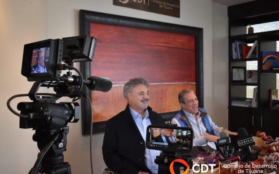 Luis Lutteroth y Roberto Lyle Fitch,  presidente y vicepresidente de CDT