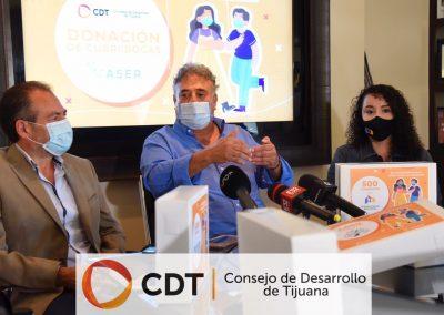 Destaca CDT impacto positivo de vacunación contra COVID en la frontera